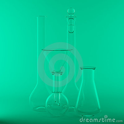 Empty chemical flasks