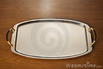Chrome serving tray