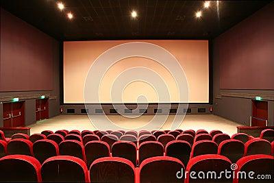 Empty cinema auditorium