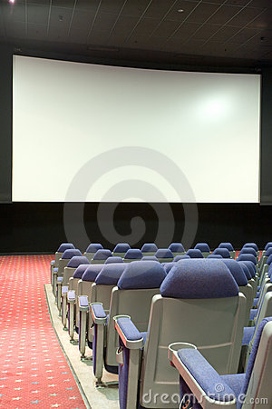 Free Empty Cinema Auditorium Royalty Free Stock Image - 3748096