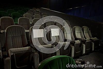 Recerved seats in cinema