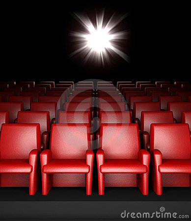 Free Empty Cinema Hall With Auditorium Stock Photography - 23869862