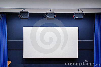 Empty cinema screen