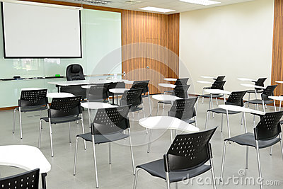 The empty classroom