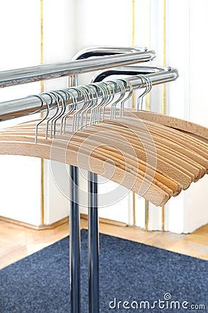 Empty clothes hangers