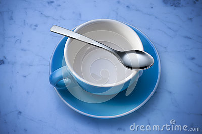 Empty Coffee Cup And Spoon