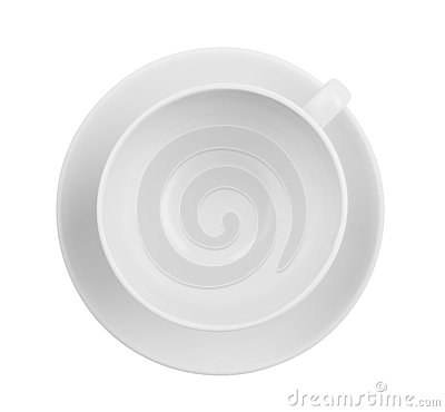 Free Empty Coffee Or Tea Cup Top View Isolated Royalty Free Stock Image - 26948146