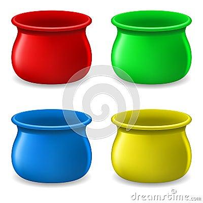 Empty color Pots