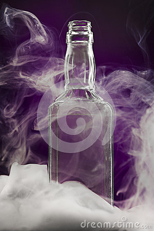 Free Empty Colorless Glass Bottle Royalty Free Stock Photo - 83811675