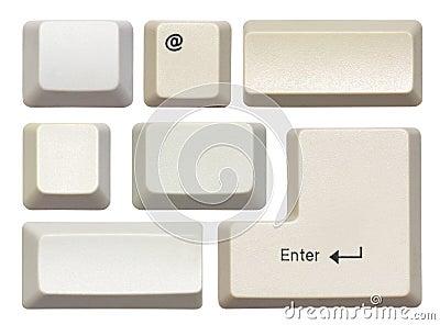 Empty computer keys