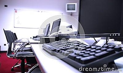 Empty computer room