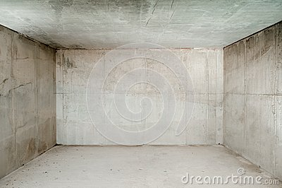 Empty concrete room