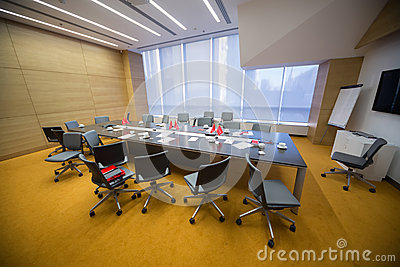 Empty conference room after the Business Breakfast