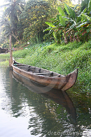 Empty Country Boat of Kerala