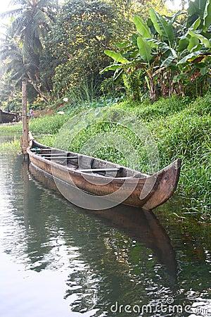 Empty Country Boat of Kerala
