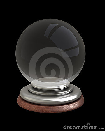 Empty crystal ball isolated