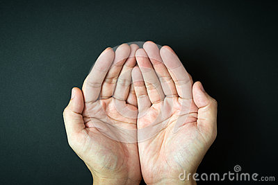 Empty Cupped Hands Stock Photo - Image: 65545908
