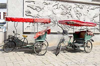 Cycle rickshaws in China