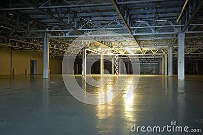 Empty dark storehouse