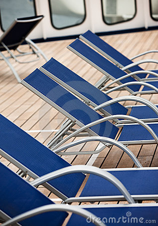 Empty deck chairs