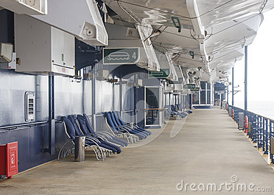Empty Deck on Cruise Ship