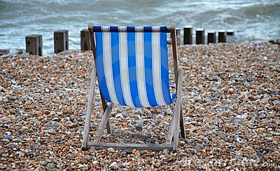 Empty deckchair, St.Leonards