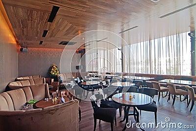 Empty dining restaurant
