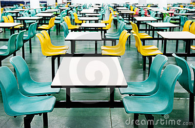 Empty dinning tables