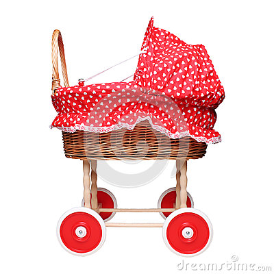 Free Empty Doll S Trolley Isolated On White Background Royalty Free Stock Images - 50726579