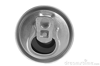 Empty drink can isolated