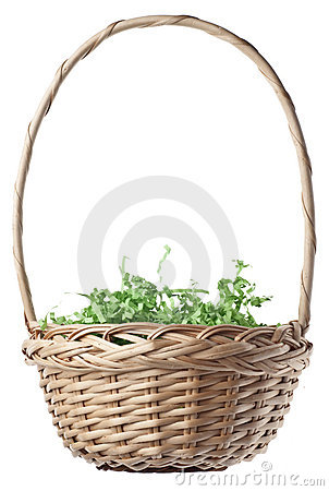 Empty Easter Basket with Green Grass