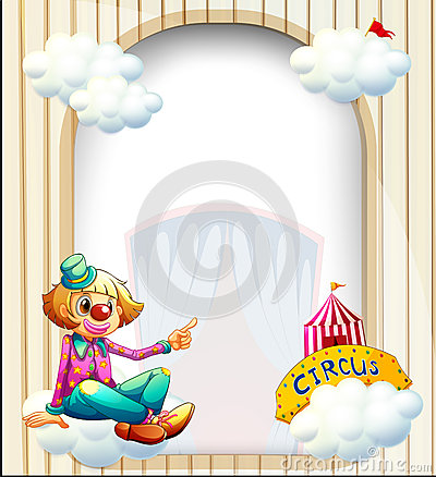 An empty entrance-like template with a clown