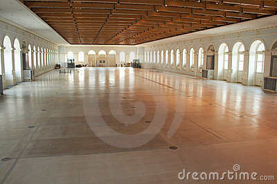 Empty exhibition hall
