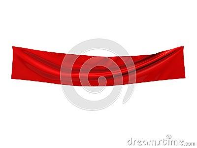 Empty fabric banner