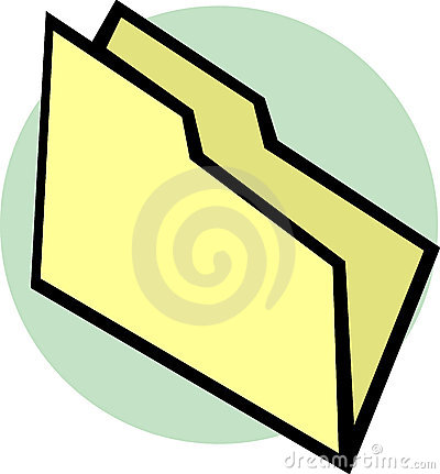 Empty file folder vector illustration
