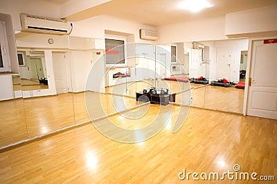Empty fitness training room