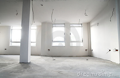 Empty flat in construction
