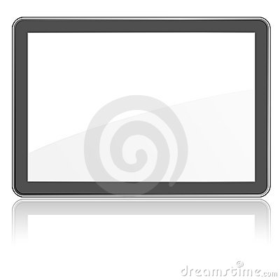Empty flat screen