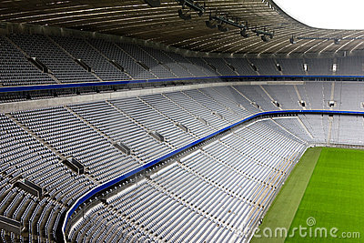 Empty Football Stadium