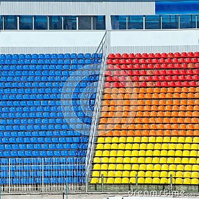 Empty football stadium  tribunes