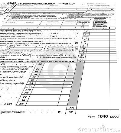 Empty form 1040 blank, taxes,