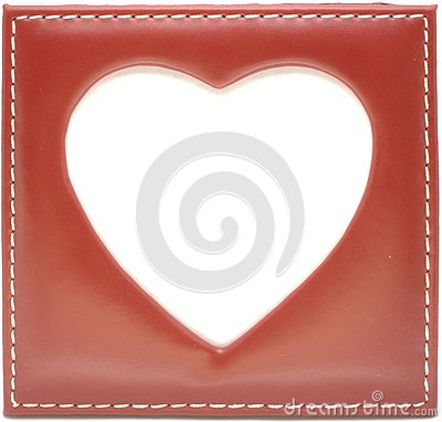 Empty frame in heart shape