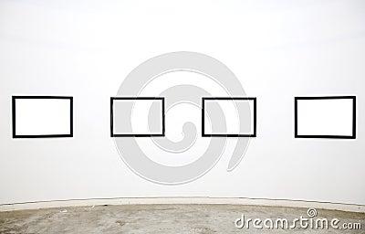 Empty frames in gallery