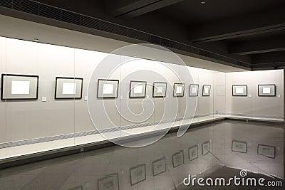 Empty frames in showcase