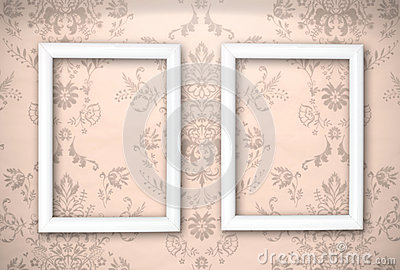 Empty frames on the Vintage background