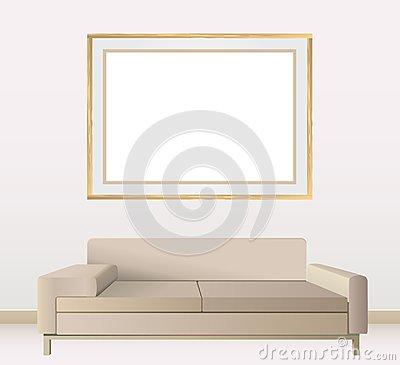 Empty frames on wall