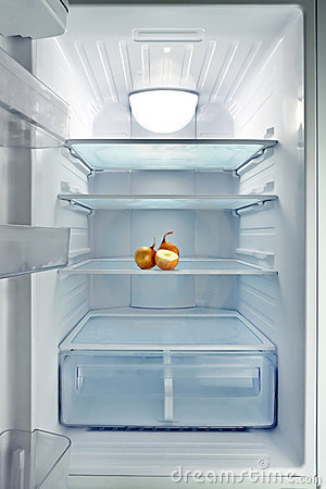 Empty Fridge Stock Photography Image 19640702