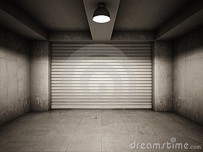 Empty garage royalty free stock photos image 22362918 for Carrelage pour garage