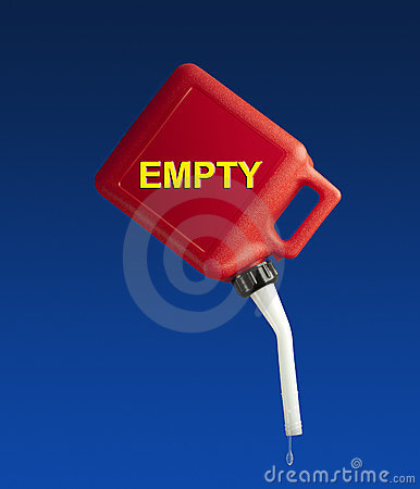 Empty gasoline can