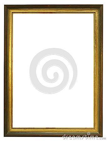 Empty Gilded Wooden Frame